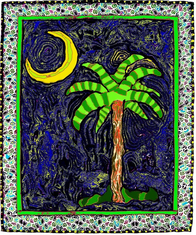 Palmetto Starry Night Sam Long S Art Charleston Sc