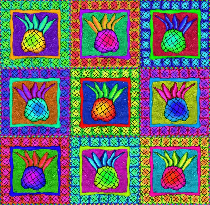 Nine Pinapples Sam Long S Art Charleston Sc